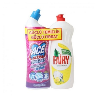 Ace Ultra Power 810 gr Ferahlık Etkisi + Fairy 650 ml Limon