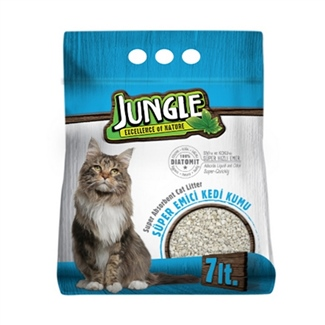 Jungle Diatomit Süper Emici Kedi Kumu 7 lt